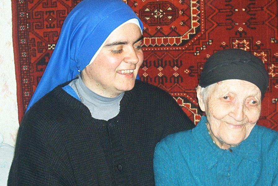 María Fix con la hermana María Milagrosa